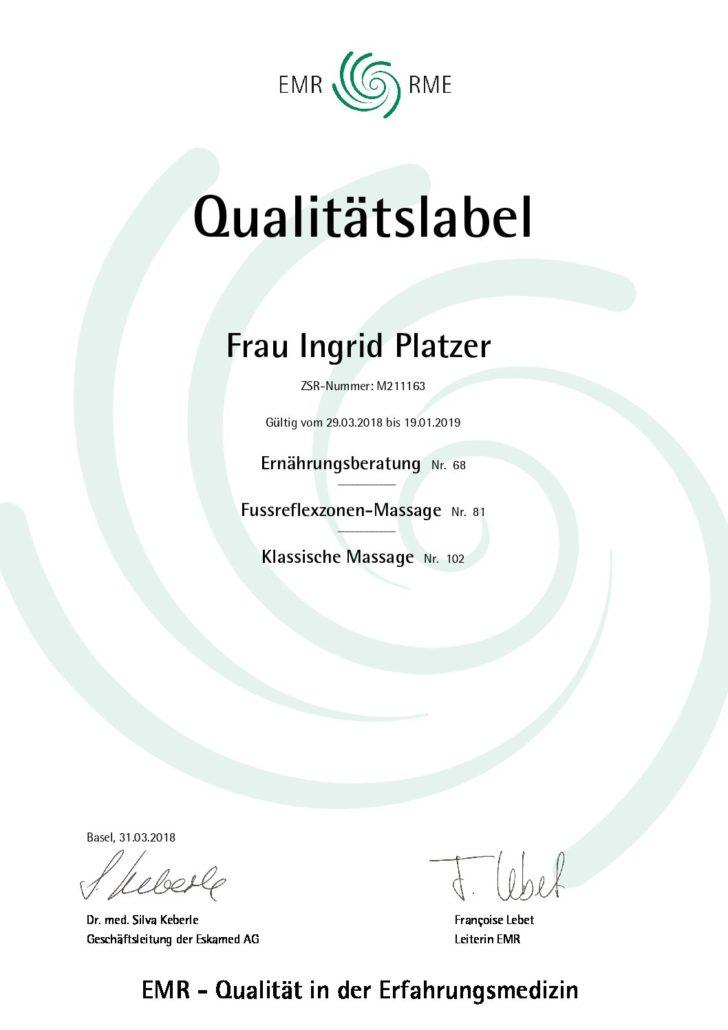 Ingrid Platzer - Biomedizinisches Kompetenzzentrum